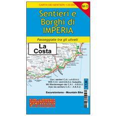 IM-13 sentieri e borghi di Imperia, San Lorenzo al Mare, Diano, San Bartolomeo, Cervo. Carta dei sentieri di Liguria 1:25.000