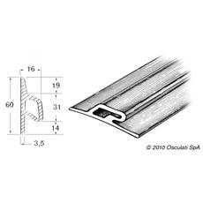 Profilo paracolpi 3x90x26 mm grigio