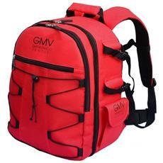 Zaino per macchina fotografica reflex Slr E Accessori Colore Rosso Inclusa Cover Antipioggia Nera