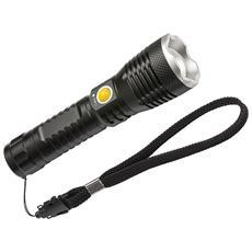 Torcia tascabile a LED con focus e batteria ricaricabile LuxPremium TL 500AF IP44 CREE-LED 500lm con batteria
