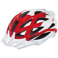 Casco ciclismo mountain bike unisex MOUNTAINSTAR bianco rosso 100196 Taglia L-XL