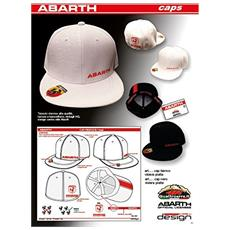 Cappellino Abarth Bianco Visiera Piatta