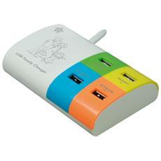 Carica Batterie Multiplo 4 porte USB