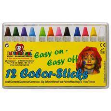Set 12 Colori A Cera Per Trucco 626122