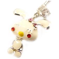 body piercing 'lapin' bianco - [ l4543]