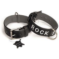 Collare Per Cani Rock Star Cuoio 40 Mm 31-41 Cm 745833 Nero