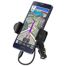 Supporto da Auto con porta Usb per Smartphone fino a 5.5''