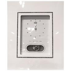 Orologio Pendolo Crystal Line Cm 27x33 Bianco - 1400/9l