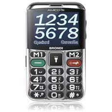 """Amico Chic Senior Phone Dual Sim Display 2,4"""" + Slot MicroSD Fotocamera Tasti Grandi e SOS Colore Nero - Italia"""