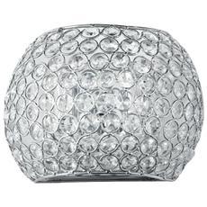 Applique da parete in cristallo lampada plafoniera design moderno cromo