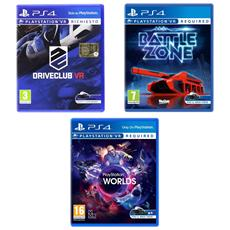 SONY - PS VR Mega Pack 2 - Battlezone VR + PS VR Worlds +...