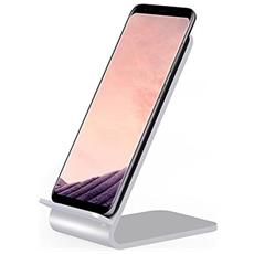 I-CHARGE-WRA10S - Caricabatterie Wireless Fast Qi Stand Verticale 10W Lega di Alluminio