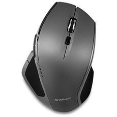 Mouse Wireless Blue LED Deluxe 1600 dpi Grigio e Nero