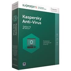 KASPERSKY - Antivirus 2017 Licenza per 3 Dispositivi Versione Full