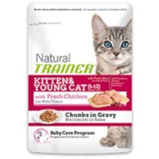 Cibo per gatti Bocconcini in salsa Kitten&Young con Pollo Fresco 85 gr