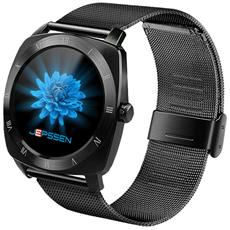"Smartwatch Pan Feel Resistente all'Acqua IP66 Display 1,22"" Bluetooth Wi-Fi per Fitness Nero - Europa"