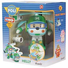 Robocar Poli - Helly - Robot Trasformabile Con Luci 13 Cm