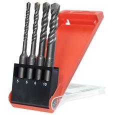 240800, Drill, Set di punte per trapano, Right hand rotation, Mattone, Cemento, Argento