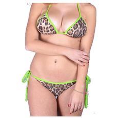 Bikini Donna Triangolo Animalie Fantasia Verde S