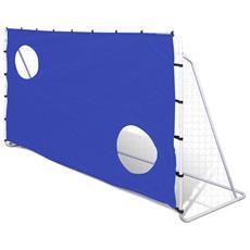 Porta Da Calcio E Telone Con Buchi Per Allenamento 240 X 92 150 Cm