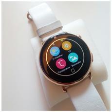 Smartwatch Pan Vip Cassa Display 1.22'' Bluetooth Rosa d'oro / Bianco - Europa