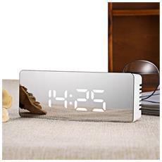 Ts-s69 Multifunzionale Silenzioso Led Mirror Clock Display Tempo / temperatura