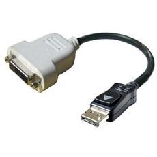 DisplayPort - DVI-D, DVI-D, DisplayPort, Maschio / maschio, Nero, Bianco, 0,23m