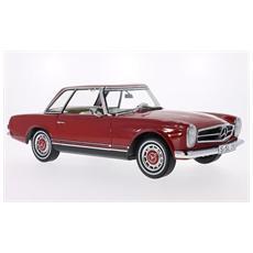 Prem40001 Mercedes 280 Sl Pagoda (w113) Hardtop 1968 Red 1:12 Modellino