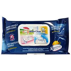 Salviette Sanitizzanti X 50 Pezzi Attrezzi Pulizie