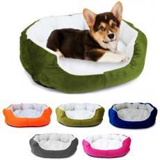Cuccia Per Cani E Gatti In Caldo Pile 42 X 30 X 15 Cm Cuscino - Blu