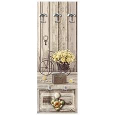Appendiabiti Da Parete 49x139 Cm Yellow Roses