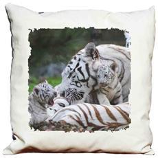 Cuscino Decorativo Tigre Bianca