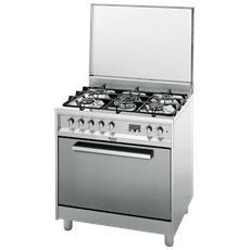 CP87SEA / HA S Cucina a Gas con Forno Multifunzione Classe A Dimensione 80 x 60 cm Colore Inox