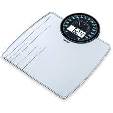 Pesapersone in Vetro con Dual Display Portata massima 180 kg Colore Bianco e Argento