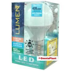 Lampada Led Sfera 5w E14 Luce Fredda, Da Lumen