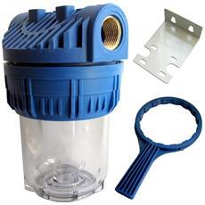 Porta Filtro Prof 5 Attacco 3/4 Per Acqua Tubo Irrigazione Giardino Casa Piscina