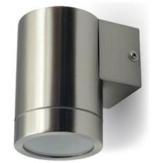 Lampada Da Muro Applique Gu10 Acciaio Inox Esterno Ip44 Vt-7641 7506