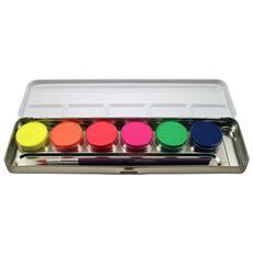 6 Colori Neon In Palette Metallo Per Trucco Ed Effetti Fx 423004