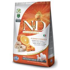 N&d Pumpkin Cane Taglia Media E Grande, Pesce E Arancia Kg. 2,5