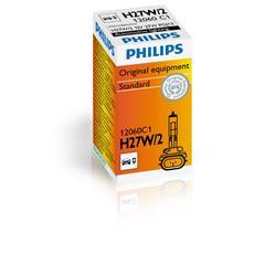 Sentiti al sicuro, guida con sicurezza. Lampade di segnalazione Philips. H27W / 2, 27 W, 12 V.