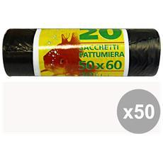 Set 50 Sacchi 50x60 Neri X 20 Pezzi Perpan Plast