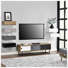 Mobile Tv - Con Porte Scorrevoli In Diversi Colori - 140cm X 35cm X 41cm