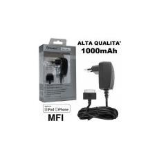 Travel Casa 30 Pin Per Apple Iphone 4, 4s - 1000 Mah Certificato Mfi (made For Iphone) Nero Lgap0111c Alta Qualita' Fontastic