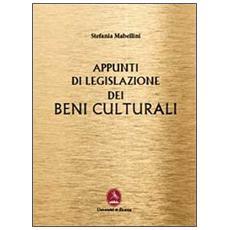 Appunti di legislazione dei beni culturali