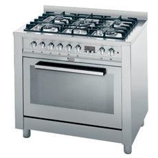 CP98SEA / HA S Cucina a Gas con Forno Multifunzione Casse A Dimensione 90 x 60 cm Colore Inox
