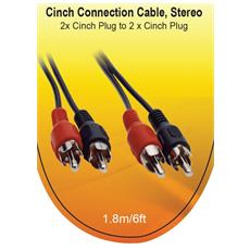 3.5mm To 2xchinch Cable 1.8m Black Retail M / M