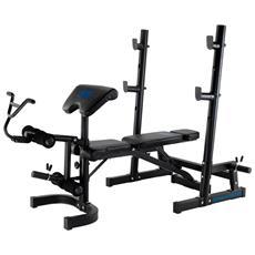 BH FITNESS - Ion Fitness Bench 502 Fi502 Panca Universale Per Spalle, Bicipiti, Addominali, Quadricipiti E...