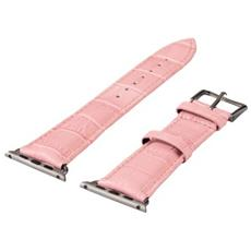 Cinturino Croco rosa per Apple Watch 38mm