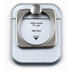 I-SMART-RINGS - Anello e Supporto per Smartphone Silver