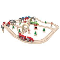 Set Pista Treno Ferrovia High & Low E3701